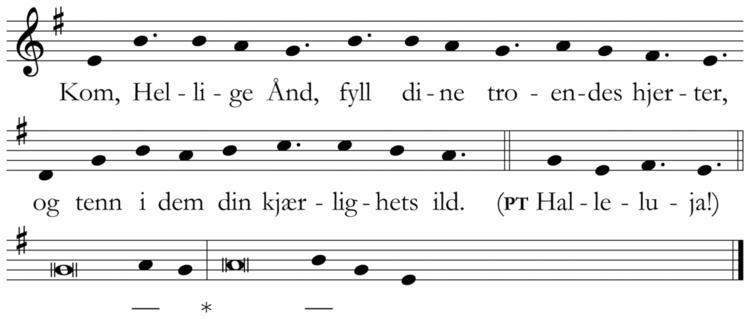Kom, Hellige Ånd (LH123) - Liturgisk ressursbank